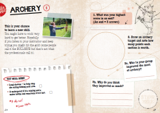 Sample of the Archery page