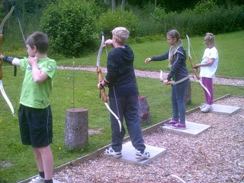 Archery at an outdoor center