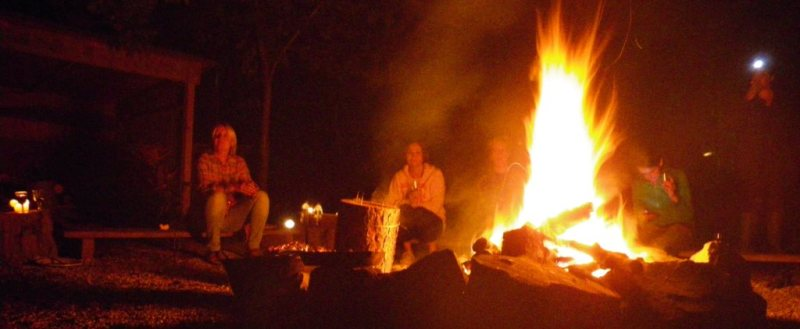 campfire session at outdoor centre in kent and sussex