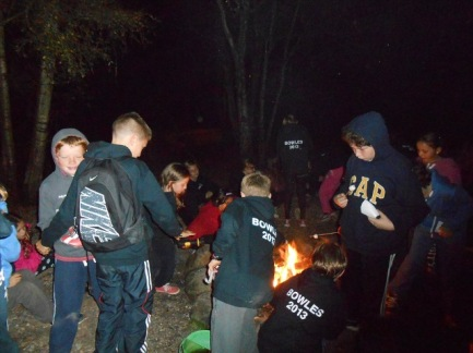 Campfire of outdoor course