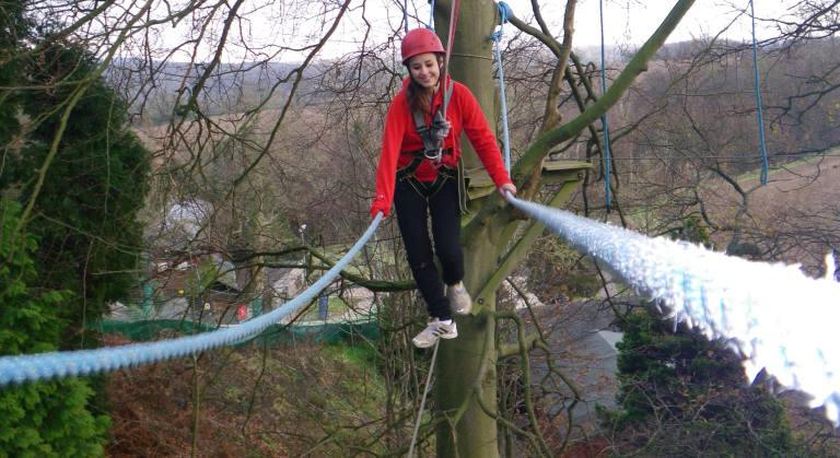 high ropes course at outdoor centre
