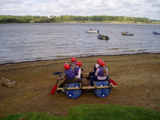 Group teambuilding at outdoor centre in Sussex