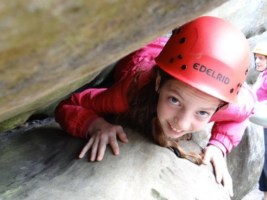 Rock climbing learning