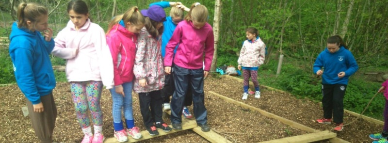 School group outdoor learning