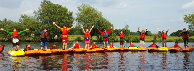 kayaking with school groups