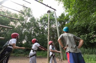 Ropes course outdoor trip