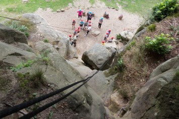Rock climbing school trip
